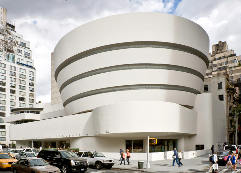 the guggenheim museum in new york by frank lloyd wright This spiraling white concrete structure, designed by frank lloyd wright, is one of the most iconic buildings in nyc, if not in all of the usa this is one museum where the building itself is as interesting as the exhibition inside.